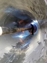 شركة أيزيس لصناعة الذرة – أثناء تصنيع مواسير الحرارة