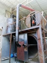 شركة أيزيس لصناعة الذرة – فرن تجفيف المحاصيل الزراعية أثناء تصنيع وحدة توزيع الحرارة